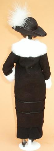 Click to enlarge image  - Lady Marion 17 inch Mold Set - 1910 Black Charmeuse Manteau