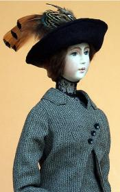 Click to enlarge image  - Lady Marion 17 inch Mold Set - 1912 Traveling Suit