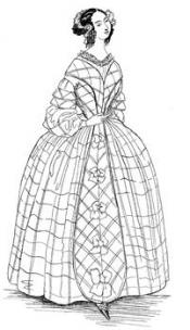 Click to enlarge image 1840 Day Dress - Pattern 84