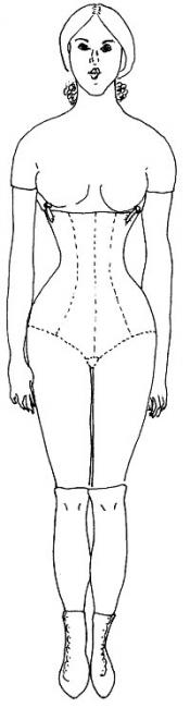 Click to enlarge image Body Pattern for Lady Marion 17 - Pattern # 30-17