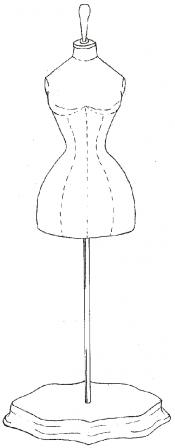 Click to enlarge image Victorian Dress Form Pattern - Pattern 25
