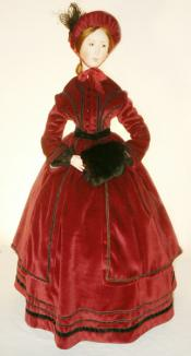 Click to enlarge image 1850's Winter Dress - Pattern 21