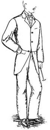 Click to enlarge image 1895 Morning Coat & Trousers - Pattern 32
