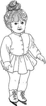 Click to enlarge image Skating Outfit that fits American Girl Dolls - Pattern 51
