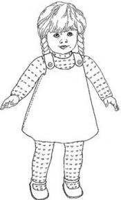 Click to enlarge image Jumper, T-Shirt and Tights that fits American Girls Dolls - Pattern 47