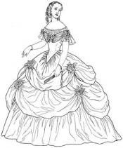 Click to enlarge image 1864 Ball Gown - Pattern 82